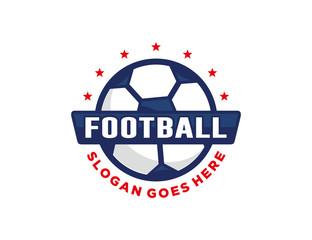Soccer football logo template