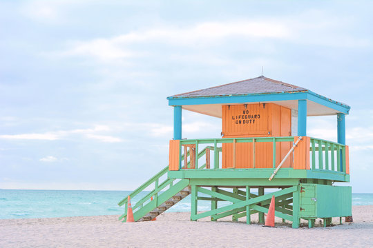 Lifeguard Tower in Miami