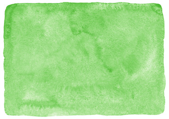 Grass green watercolor background. Hand drawn watercolour texture with aquarelle stains. Painted spring, nature, eco, vegan, St. Patrick Day background. Uneven rounded edges.  Wall mural