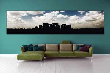 modern bright interiors apartment Living room 3D rendering computer generated image illustration 3D