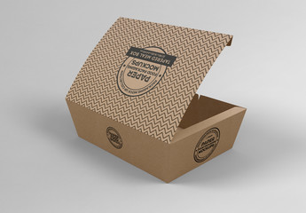 Large Tapered Paper Box Mockup