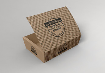 Small Tapered Paper Box Mockup