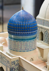mosque dome with arabic pattern