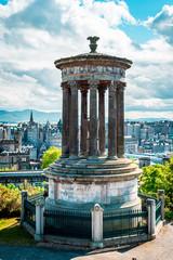 Dugald Stewart Monument of Edinburgh, Calton Hill, Scotland