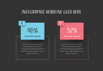 Infographic Layout with Blue and Red Accents
