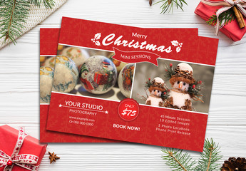 Christmas Photography Flyer Layout