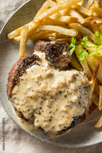 Wall mural Homemade Steak Au Poivre