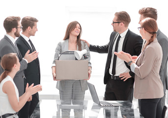 boss and business team welcome new employee