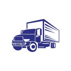 Truck Trailer Logo Transportation - inspiration Vector van
