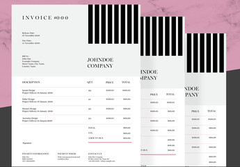 Invoice Layout with Black Bar Element
