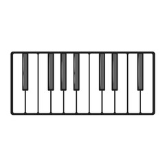 Musical instrument keys.