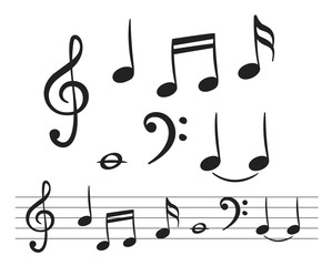 Music notes for decoration design
