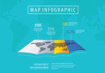 Map and World Infographic Layout