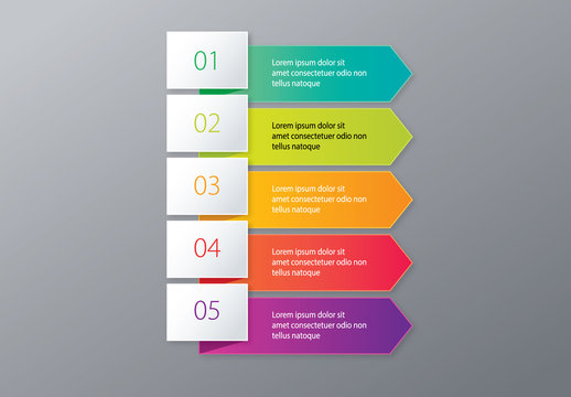 Colorful Business Infographic with Arrow Banners Layout
