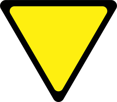 Road sign with give way