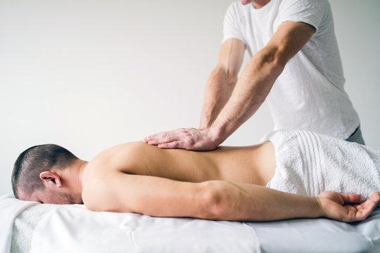 Young Man having massage