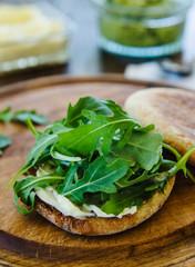 Sandwich with arugula