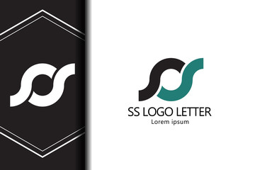 alphabet  logo letter SS with combination, lowercase for business - vector