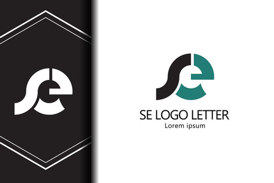 alphabet  logo letter SE with combination, lowercase for business - vector
