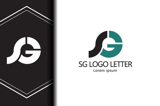 alphabet  logo letter SG with combination, lowercase for business - vector