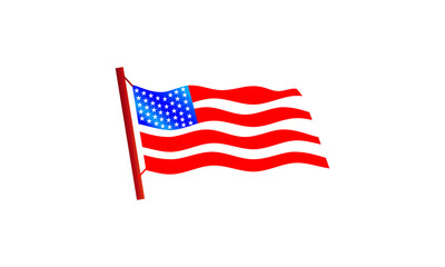 a picture of waving american flag
