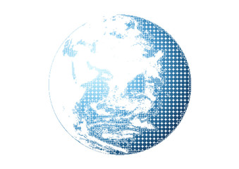 抽象的な地球/ドット絵
