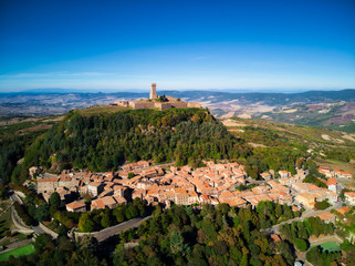 Medieval village of Radicofani in Tuscany
