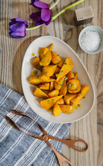 Side dish of Roasted golden beets