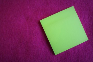 A blank note on fuchsia color background