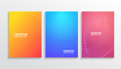 Cover set of abstract colorful background for book cover, brochure, etc. Modern design in blue , purple and yellow mood tone.EPS10 Vector.