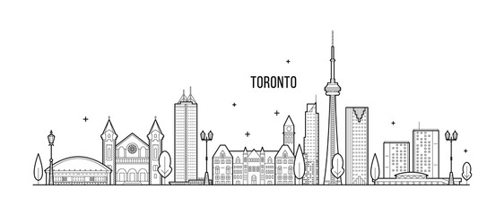 Wall Mural - Toronto skyline Canada big city buildings vector