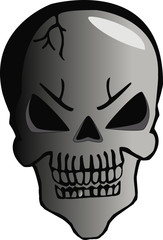 cartoon skull halloween
