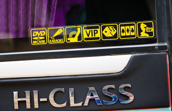 entertainment sign in vip travel bus