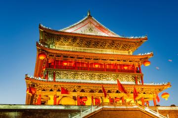 XiAn Drum Tower at Night Fototapete