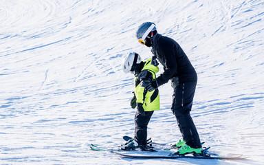People are enjoying kiing/ snowboarding