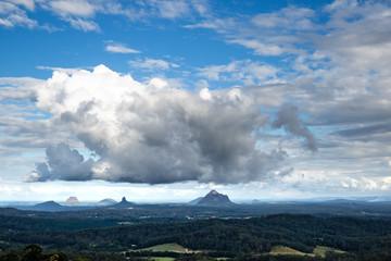 Storm cloud, Glasshouse Mountains