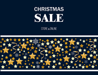 Christmas sale poster, special offer, discount
