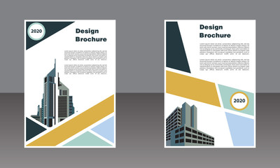 geometric book cover business template