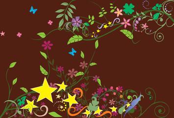 eps Vector image: Ivy & flower motif frame
