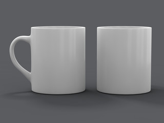 Mug Mockup standing on the surface. 3D