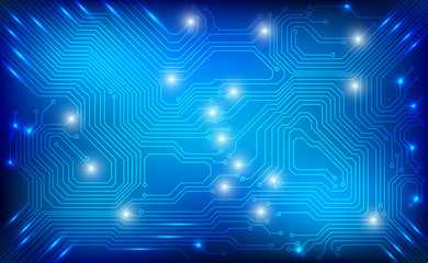 Circuit Board Technology Blue Pattern Vector Background