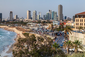 Beautiful view of the Tel Aviv.