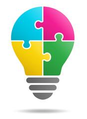 Puzzle light bulb