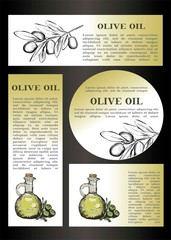 Olive oil and text for flyer design.