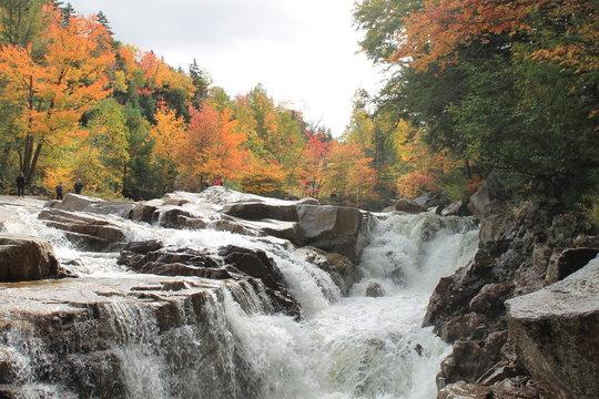 New Hampshire Waterfall in Autum