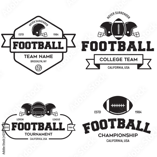 Set of american football related badges 0fbbff2c5
