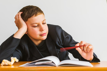 inattentive student in the classroom. attention deficit disorder