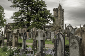 Royal cemetery and church in Stirling, Scotland