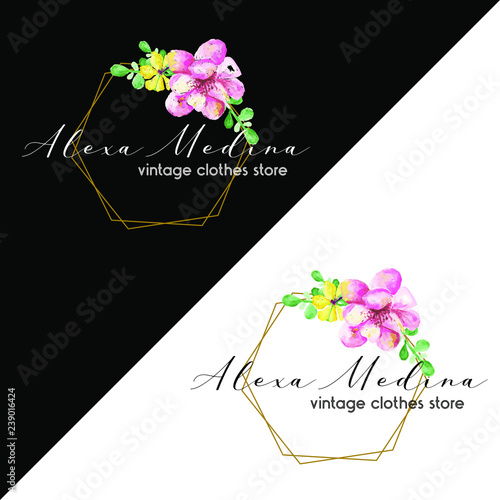 Logo Gold Logo Con Flores Logo Para Online Store Tienda De Ropa