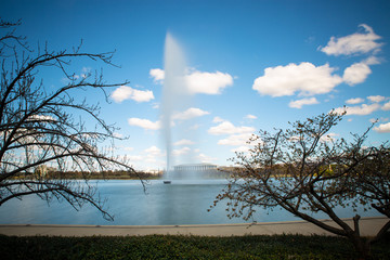 Captain Cook fountain landscape view